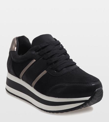 Białe sneakersy ze złotymi wstawkami  Vampi