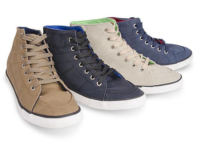 Białe sportowe buty z eko-skóry Abi