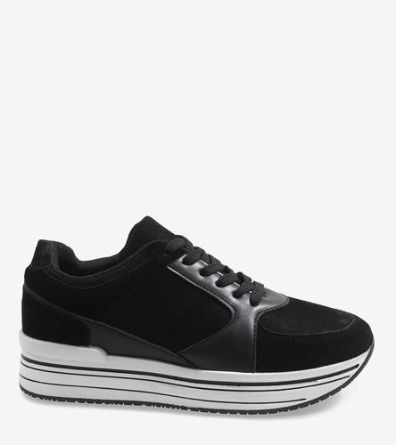 Czarne  sandały na słupku Summy