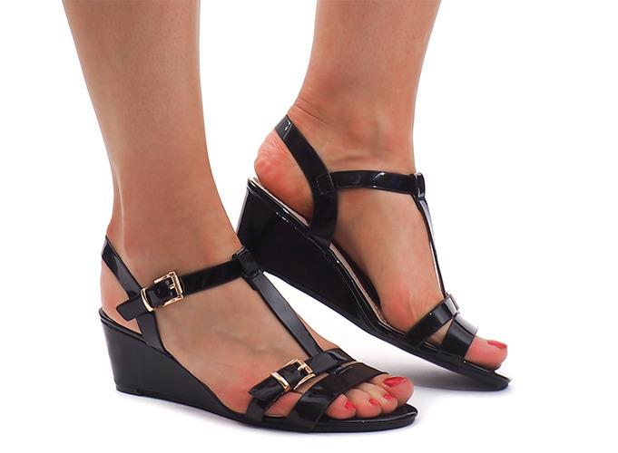 Czarne sneakersy damskie Broadway