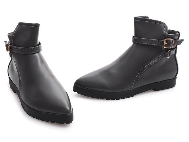 Czarne sneakersy wsuwane Gianna