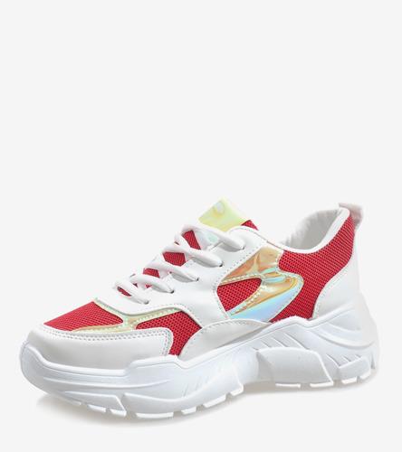 Czerwone sandały na szpilce z ćwiekami Candy